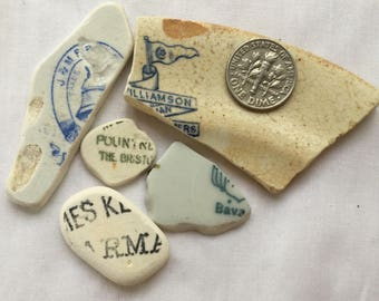 Lettered Scottish Sea Pottery SP 21.7.17.17