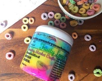 Fruity Loops - Vegan Emulsified Sugar Scrub 10 oz - Valentines Day Gift