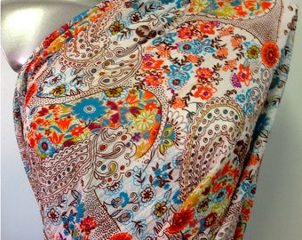 Chiffon 3metres viscose and cotton printed and pulled to warm weight 100 GR M2