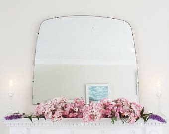 Extra Large Art Deco Mirror Frameless Curved mirror Overmantle Feature Wall  M306