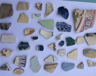 scottish sea pottery pieces for craft projects, mosaic making
