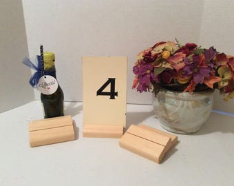 Set of Twelve Table Number Holders