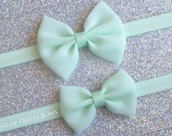 Mint Baby Bow Headband Mint Headband Mint Baby Hair Bow Newborn Headband Baby Headband Fabric Hair Bow