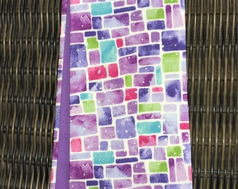 Clergy stole, shades of purple, beautiful design! Pastor stole, Minister stole for lent- or a great gift!