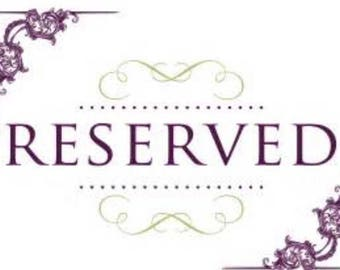 RESERVED: Purchase Pending (Please do NOT purchase)