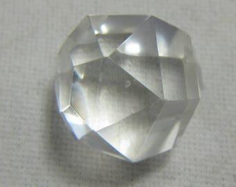 Quartz Faceted Sphere 17 mm 6 Grams Energizing Chakras Scrying Ball Orb Gazing Healing Meditation Vintage Quartz Sphere Estate Gemstone #218