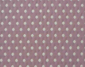 Solange purple fabric, white woven diamond pattern