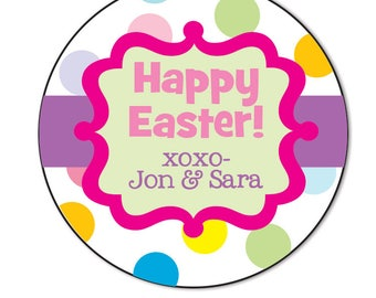 Easter gift tags etsy personalized easter sticker easter gift tags custom easter labels for favor tags negle Choice Image