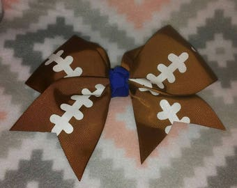 Large football hairbow