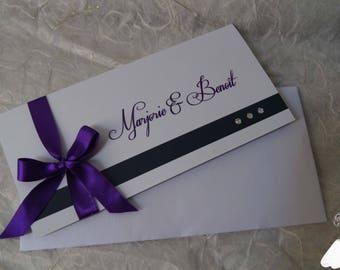 Purple Chic wedding invitation
