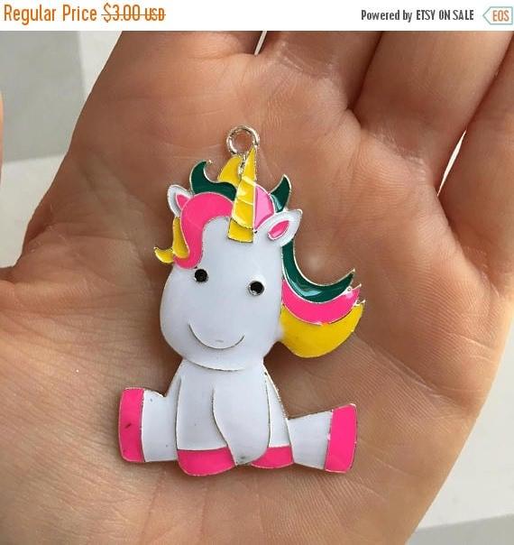 SALE P77 Unicorn Pendant for Chunky Necklaces