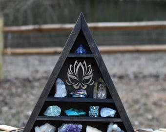 Large Lotus Triangle Crystal Display Shelf