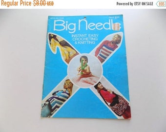 70s Knitting Book, Big Needle, Crocheting, Knit, Crochet, Large Knits, 1970s, Craft Booklet, Hippie, Boho, Kitschy, Hand Made, Knitters