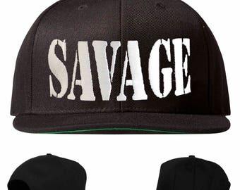 savage hat, savage snapback, savage embroidered