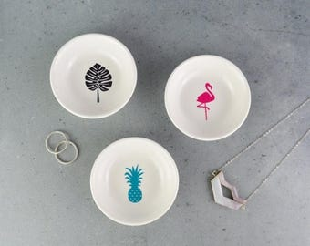 On Sale Jewellery Dish - Ring Dish - Flamingo - Monstera Leaf - Pineapple - jewelry dish - Ring holder - trinket Dish