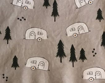 airstream baby blanket//airstream swaddle blanket//airstream organic cotton blanket//airstream blanket