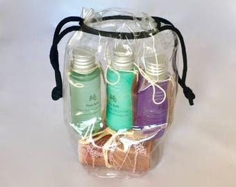 Travel soap, Travel bottles, Natural soap soap set, Travel size Shower gel, Shampoo, Holiday soap, Travel mini soap, Road trip soap, travel,