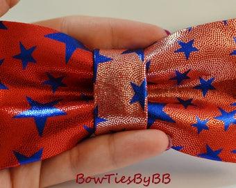Patriotic Memorial Day Pre-Tied Handmade BowTie