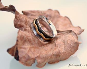 Dip Spinner Ring Meditation Ring Anti Stress Ring Three