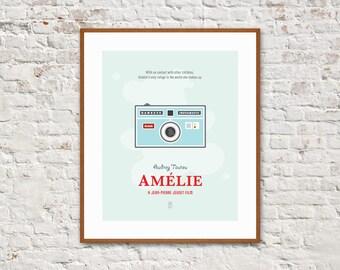 AMELIE - Minimalist Poster, Amelie Poster, Movie Posters, Jean-Pierre Jeunet, Audrey Tautou, Mathieu Kassovitz, Alternative Poster.