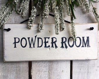 Bed and Breakfast Decor. Powder Room. Sign. Room Sign. Door Sign. Bed and Breakfast Sign. Handpainted Sign. Rustic Wood Sign. Custom Sign.