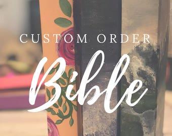 Custom Hand Painted Bible