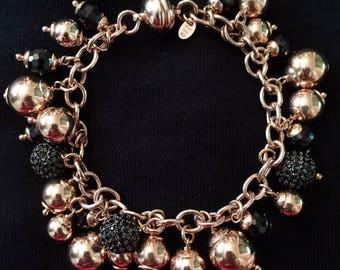 Milor Italy Black Spinel Bracelet