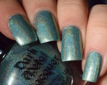 Ars Poetica - Pearl Green Holographic Nail Polish (11ml)