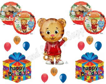 XL DANIEL TIGER'S Neighborhood 14 pc. Birthday Party Balloons Decoration Supplies