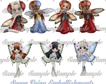 7 Fairy Embellishments Personal use