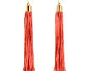 Fringe Earrings, Tassel Earrings, Statement Earrings, Extra Long Earrings, Boho Earrings, Bohemian Earrings, Lightweight Earrings
