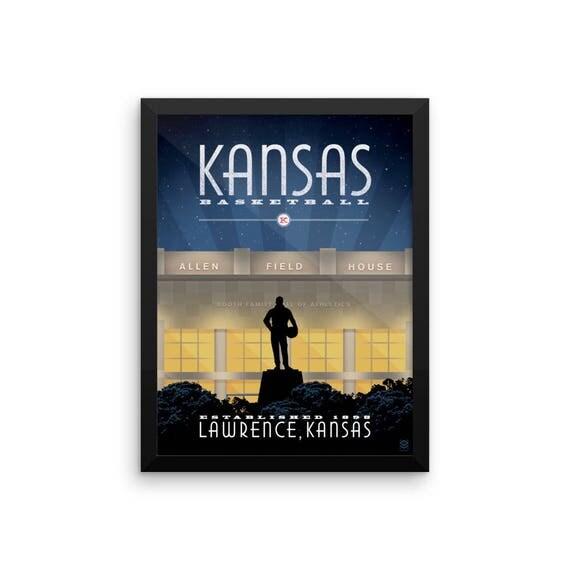 Kansas Basketball Framed Print