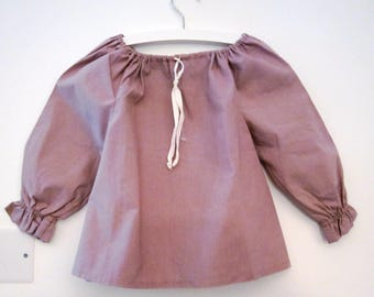 Lavender cotton girl blouse