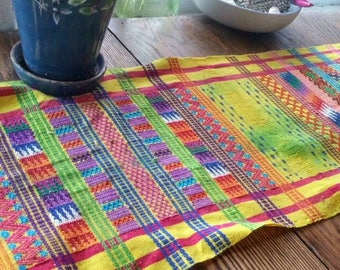 Bright and colorful table runner or wall hanging