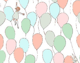 Balloons by Sarah Jane of Michael Miller Fabrics, Balloons fabric in pastel, Michael Miller fabric by the yard, Best of Sarah Jane Balloons