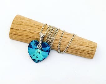 Swarovski & sterling silver Heart necklace