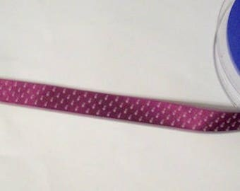 polka dot ribbon purple ribbon spot ribbon purple and white ribbon 20mm wide 5 metres