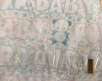 2 NIP Vintage Baby Shower Gift Wrap Laurel American Greetings 1979