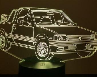 Lamp 3D pattern: Peugeot 205 CTI