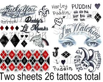 Harley Quinn tattoos Suicide Squad