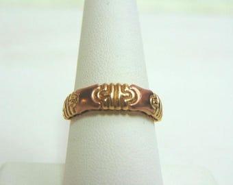 Womens Vintage Estate 10K Gold Ring w/ Rose Gold 3.0g #E3577