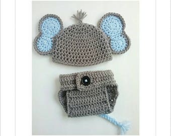 Newborn Elephant Outfit, Newborn Boy Photo Outfit, Baby Boy Clothes, Newborn Photo Outfit Boy, Baby Boy Gift, Baby Shower Gift Boy