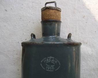 WWI Austro-Hungarian Enamel Canteen Water Flask 1916 Original