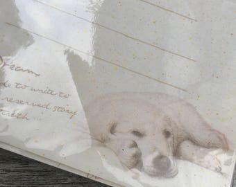90s Vintage hand drawing dog_letter set