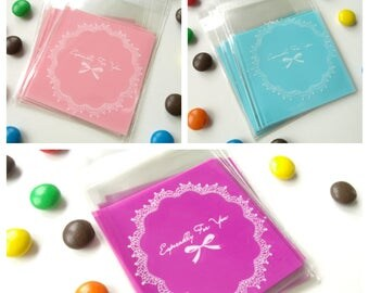 10 mini pockets 6.9cmx7.1cm transparent gift bags