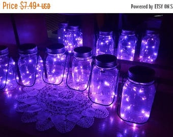 June Clearance Sale Event Mason Jar Solar Lid Light - Purple - Angel Lights - Firefly Lights - solar mason jar, mason jar light, fairy light