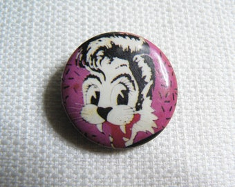 Vintage 80s Stray Cats Pin / Button / Badge