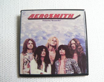 Vintage 70s Aerosmith - Self Titled Debut Album (1973) - Pin / Button / Badge