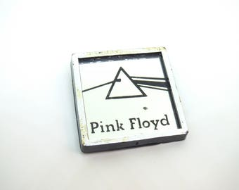 Vintage Late 70s Pink Floyd - Dark Side of the Moon Album (1973) Prism Mirror Pin / Button / Badge