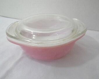 Vintage Pyrex Rose 8oz Casserole Dish